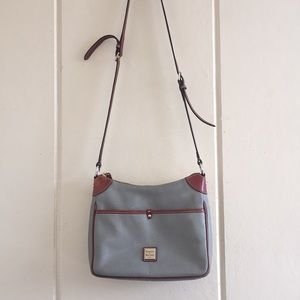 Gray Dooney & Bourke Leather Crossbody Bag